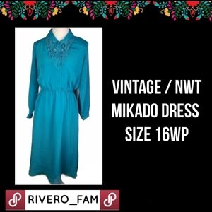 VINTAGE | NWT| MIKADO | DRESS